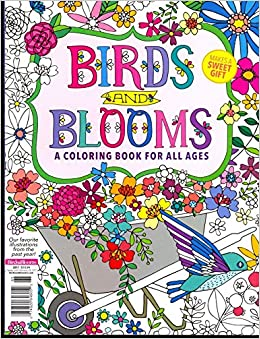 Birds Blooms Coloring Book 2017 Various Amazon Books