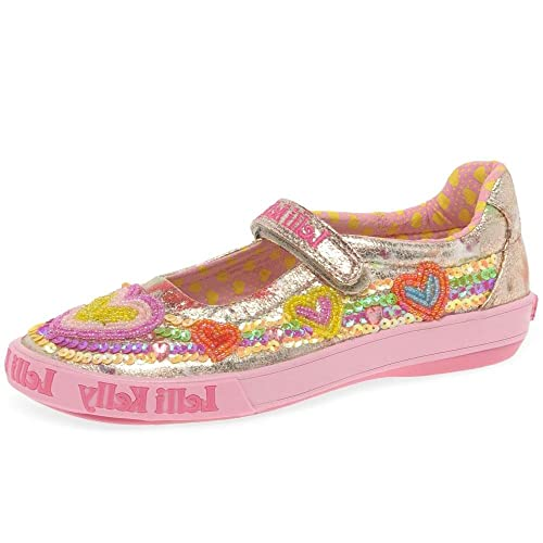 70d2ac5afd Lelli Kelly Mila Dolly Girls Canvas Heart Mary Jane Shoes 7/24 Std Unless  Stated