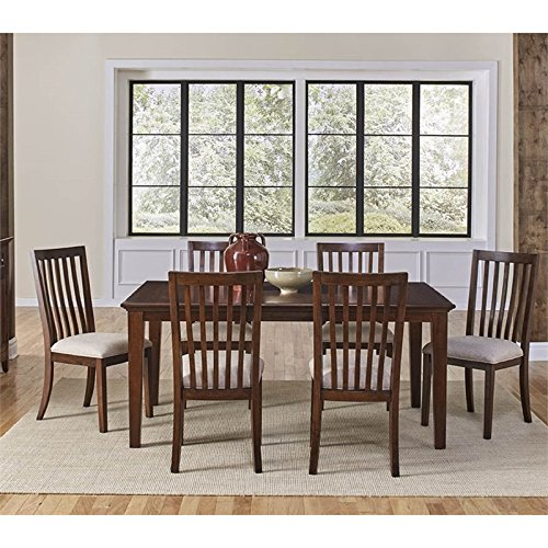 A-America Westlake 7 Piece Extendable Dining Set in Cherry Brown