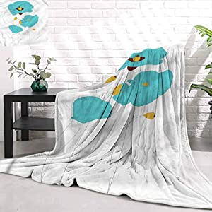 Stevenhome Super Soft Quilt Blanket PoppyFlourishing Bouquet Flower Super Soft Super Luxurious Plush Blanket W60 x L80 inch