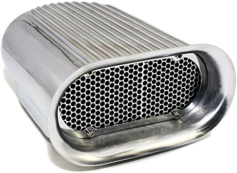 Polished Aluminum Hilborn Style Finned Hood Air Scoop Kit Single 4 BBL Carb