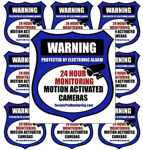 "10″REAL"" Blue Burglar Alarm Video Surveillance Security Decals Door & Window Stickers Review"