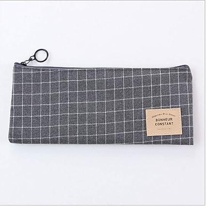 Bolsa de lona para bolígrafos, varios estuches, gran capacidad, estuche de almacenamiento para guardar bolígrafos y regla de goma, color negro as shown: Amazon.es: Oficina y papelería