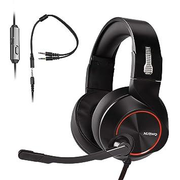 PS4 Auriculares Gaming, Cascos Gaming, NUBWO Auriculares Estéreo de 3,5 mm con