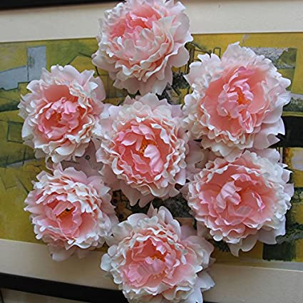 Amazon wholesale silk flowers artificial peony flower heads 100 wholesale silk flowers artificial peony flower heads 100 bulk for wedding backdrop centerpieces cake topper decor mightylinksfo