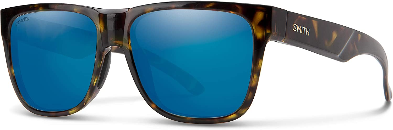 Lowdown 2 ChromaPop Polarized Sunglasses, Vintage Tort / ChromaPop Blue Mirror, Smith Optics Lowdown 2 ChromaPop Sunglasses