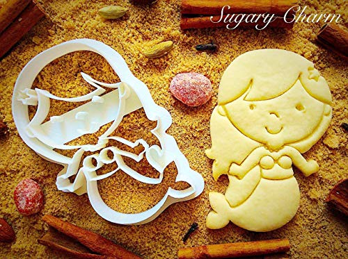 Little Mermaid with Small Tail Cookie Cutter - Under the Sea Party Supplies and Shapes - Baby Shower Ideas for Baking and Kitchen - Eco Friendly Cute Kids Cutters by Sugary Charm -