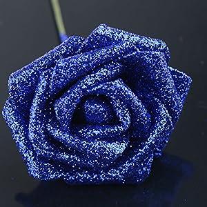 UHBGT 10x Artificial Fake Foam Rose Flowers Bridal Wedding Bouquet Bunch Decor 85