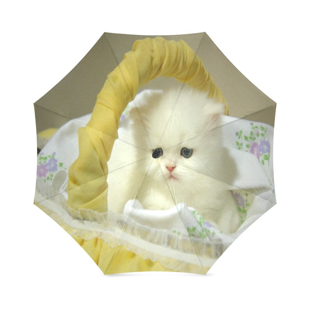 カスタムかわいい猫コンパクト旅行防風防雨折りたたみ式傘 B075VW3FNW