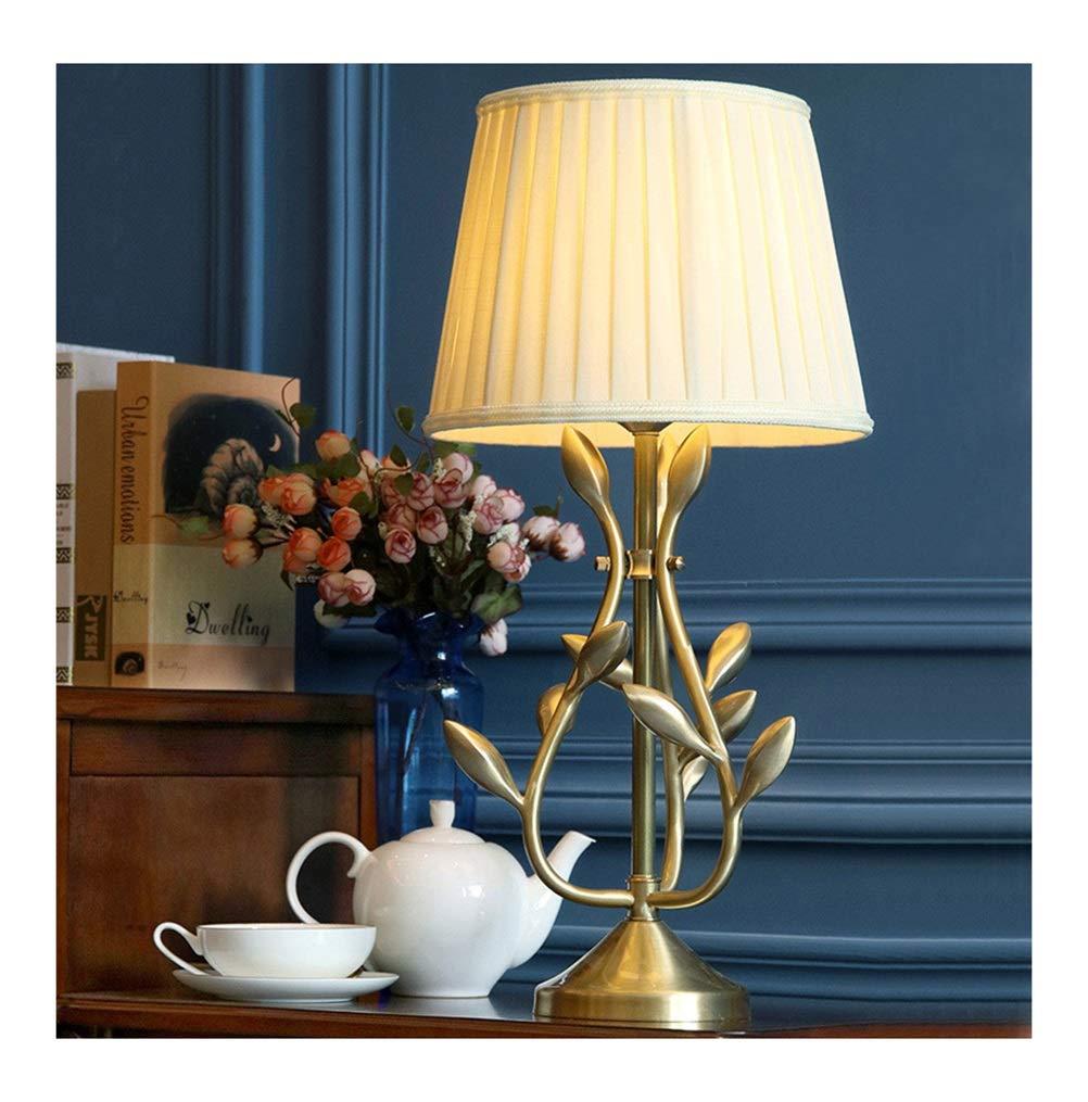 KDJHP テーブルランプ寝室のベッドサイドランプフル銅デスクランプ高級フレンチリビングルーム読書ランプdiyホテル装飾 -2586フロアスタンドランプ B07PR5T127
