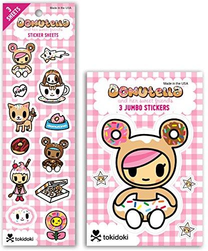 Re-marks Tokidoki Donutella Sticker Sheet and Jumbo Sticker (3 Sticker Sheets & 3 Jumbo Sticker Sheets)