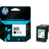 Original HP printer CH561E 301 ink cartridge black Deskjet / PSC/ Photosmart/ Officejet /Digital Copier printers - Easy Mail Packaging - Foil Inks