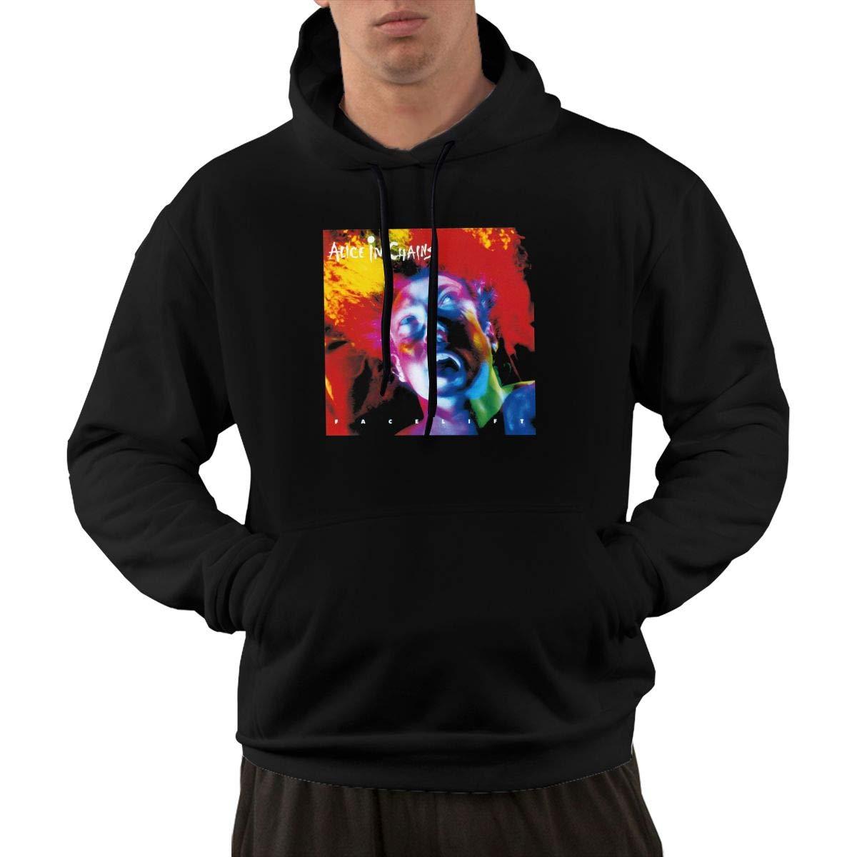 AlbertV Mens Alice in Chains Hoodies Sweater Pocket Black