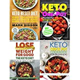 Keto reset diet, one pot ketogenic diet cookbook, keto diet for beginners and keto crock pot cookbook 4 books collection set