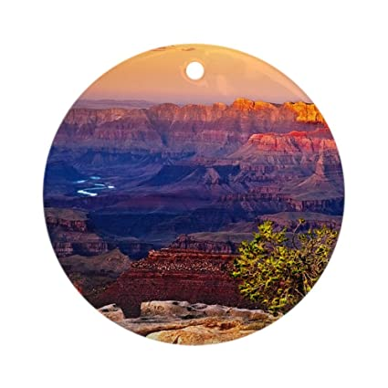 CafePress - Grand Canyon Sunset - Round Holiday Christmas Ornament - Amazon.com: CafePress - Grand Canyon Sunset - Round Holiday