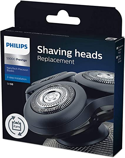 Philips SH98/70 - Pack de 3 cabezales de afeitado de repuesto para Philips Prestige S9000: Amazon.es: Salud y cuidado personal