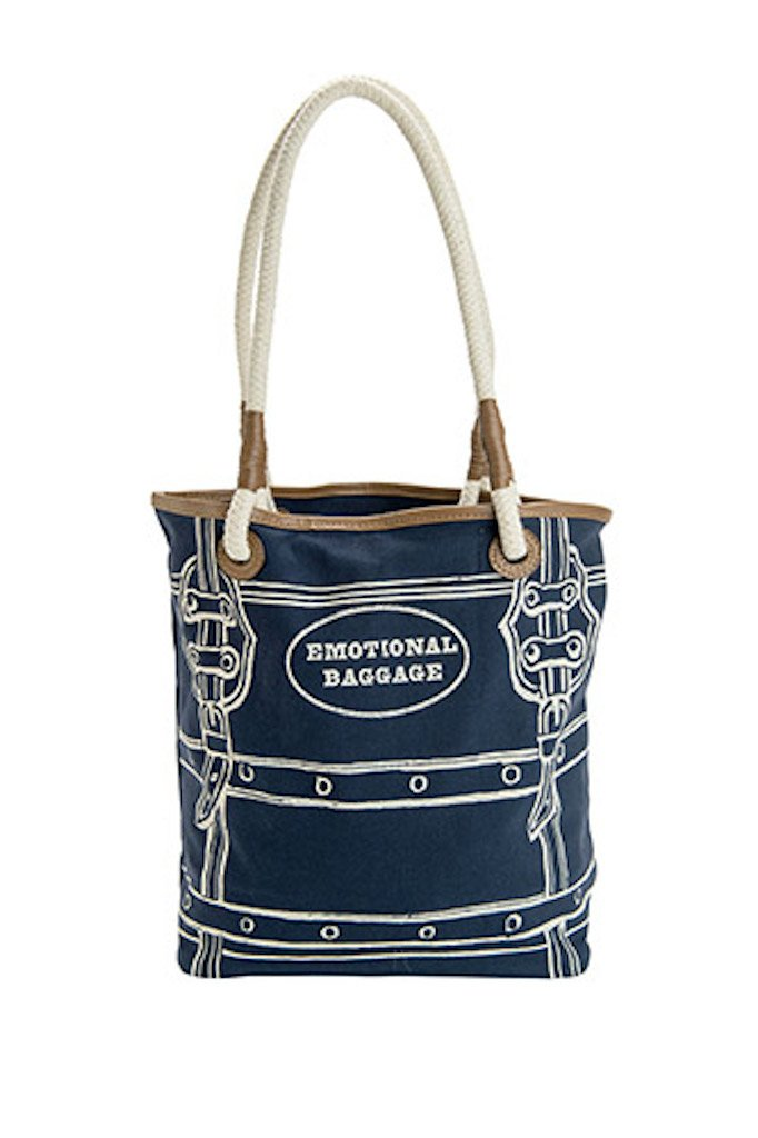 2PC, Emotional Baggage navy Small Tote