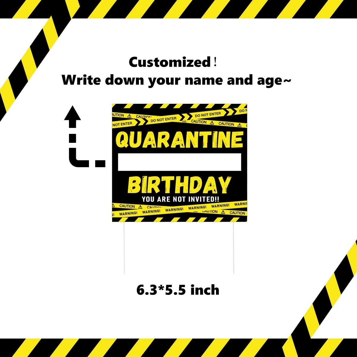 Quarantine Cake Decorations Quarantine Birthday Cake Topper 24 Cupcake Toppers for Stay Home Party Social Distancing Birthday Party Supplies
