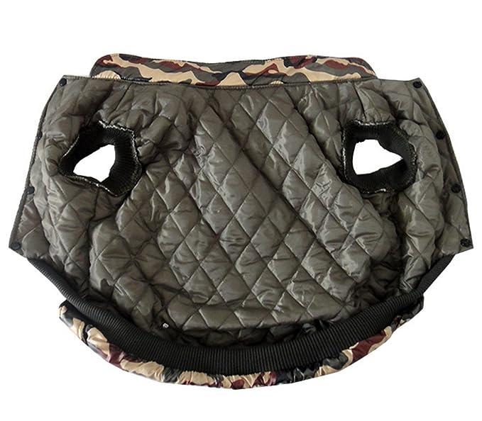Pegasus tamaño mediano Perro Ropa Perro Chaqueta Abrigo de camuflaje militar perro abrigo de invierno Neutral: Amazon.es: Productos para mascotas