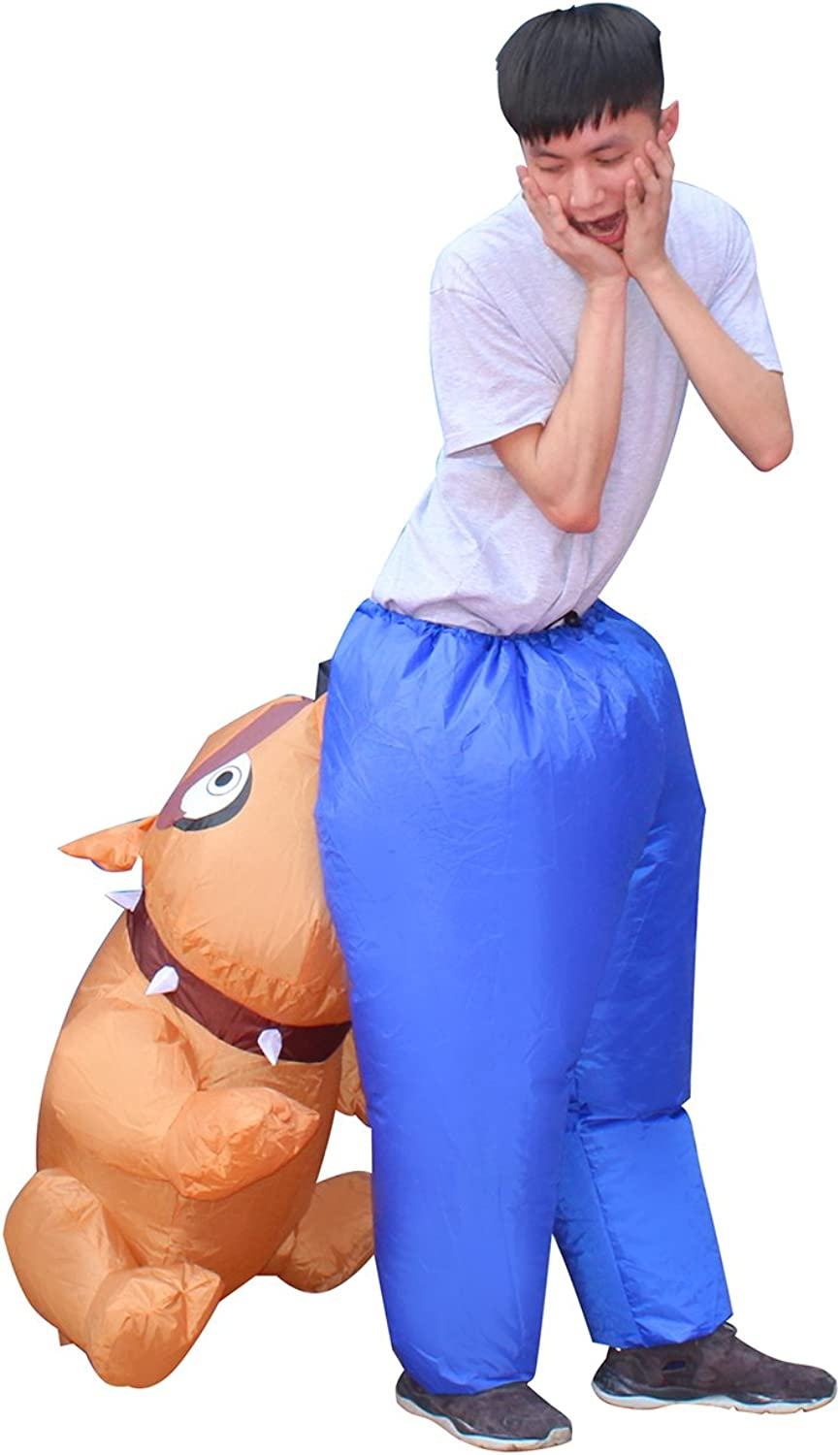 2 Colors Shark Inflatable Costume Funny Fancy Dress Halloween Blow up Suit Adult