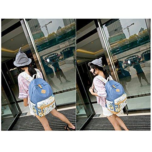 para Azul Claro Mujer FULUOYIN al Hombro Azul Bolso tw7qH7AS