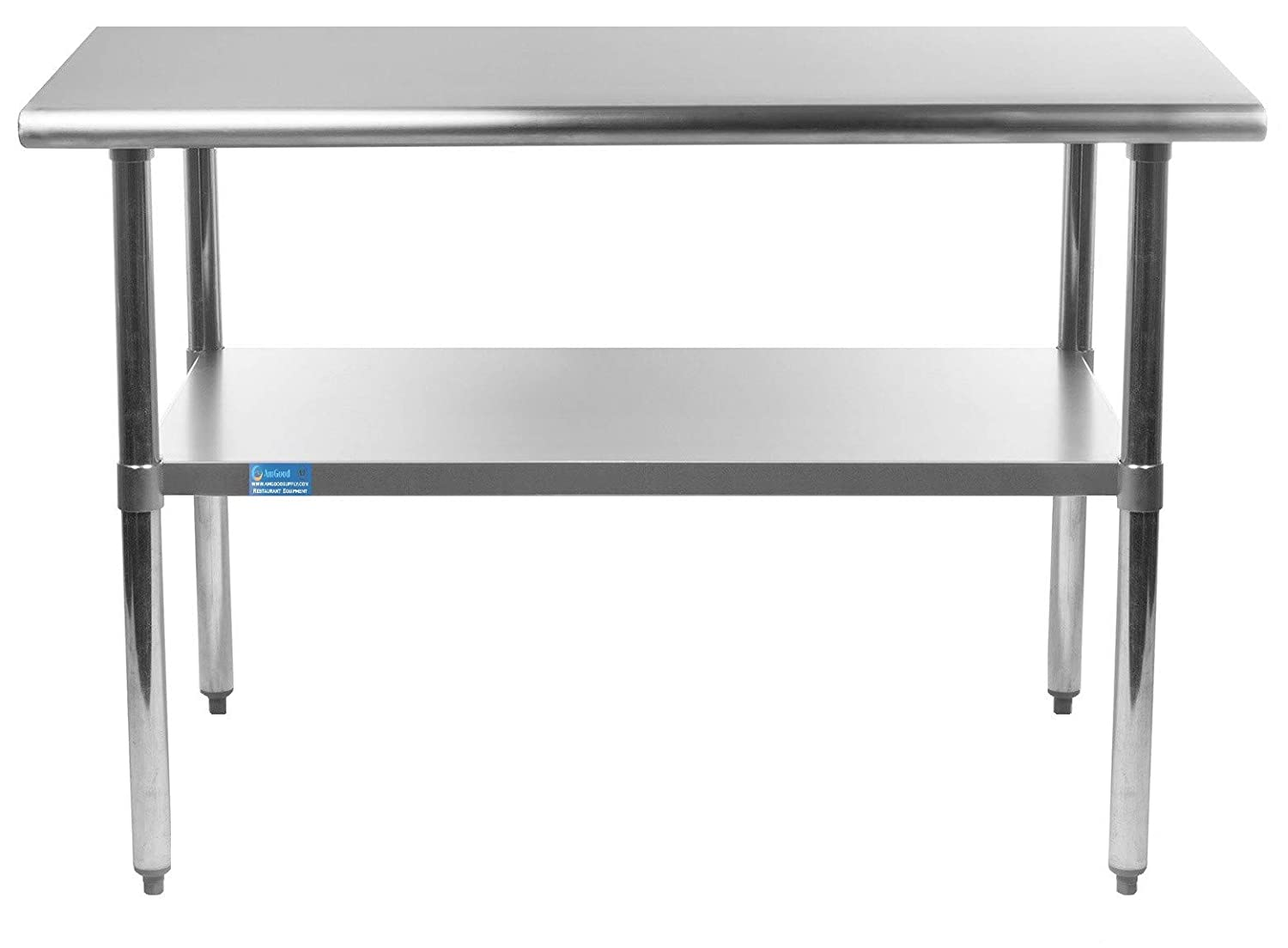 AmGood 18 X 30 Stainless Steel Work Table with Under Shelf | NSF Kitchen Island Food Prep | Laundry Garage Utility Bench