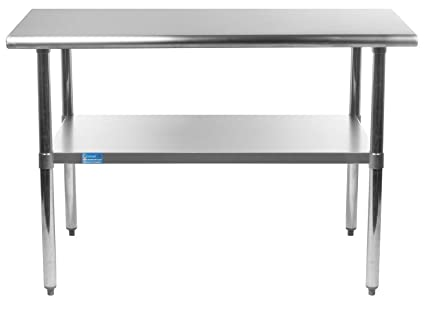 Admirable Amgood Stainless Steel Work Table With Under Shelf Nsf Kitchen Island Food Prep Laundry Garage Utility Bench 36 Long X 24 Deep Ibusinesslaw Wood Chair Design Ideas Ibusinesslaworg