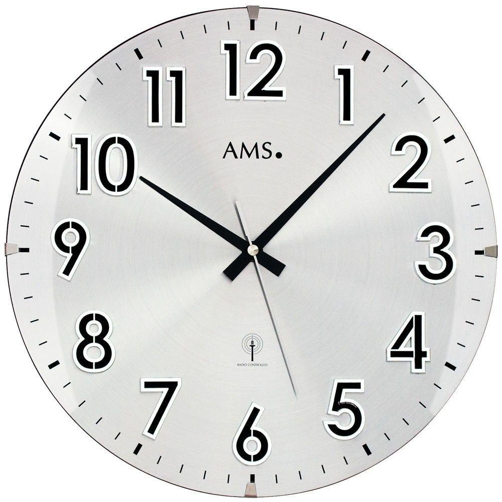 Küchenuhr AmsDesign Hochwertige Wartezimmer Büro Classic Zahlen Wanduhr Funkuhr Rund 5973 Große OiPXkZu
