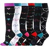 HLTPRO Graduated Compression Socks for Women & Men - Compression Athletic Socks for Running, Crossfit, Travel- Suits, Nurse,