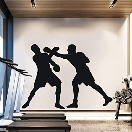 Zaosan Dos Boxeadores Siluetas de Boxeo Pintura Mural ...