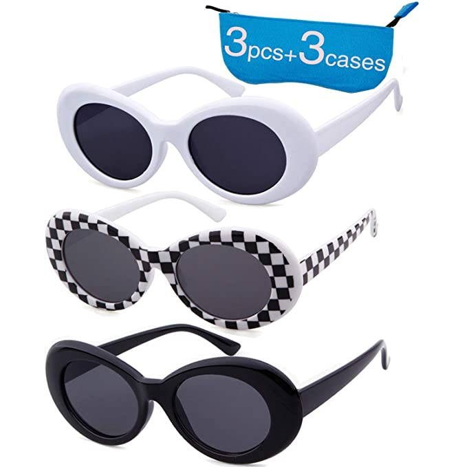 27925c2789 Authentic Clout Goggles Bold Oval Retro Mod Kurt Cobain Sunglasses Clout  Round Lens (3 Pack