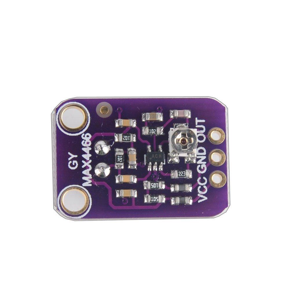 Amazon.com: HiLetgo MAX4466 - Amplificador de micrófono ...