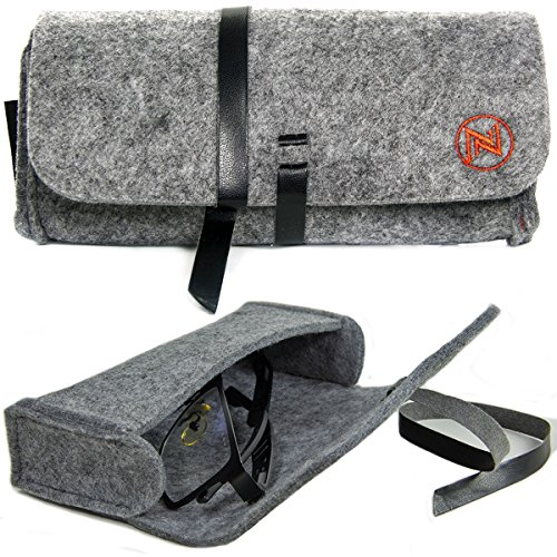 Eyeglasses Soft Case Felt Pouch Case Storage Box for Sunglasses, Goggles, Sport and Reading Glasses, - Spectacle Soft Cases