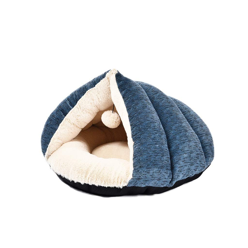 KYCD Triangle Pet Nest, Cat House, Cat Bed, Closed Warm Cat House, Cat Mats For Indoor Cats, 45 × 45 × 34cm