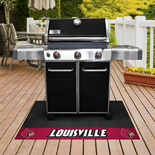 FANMATS NCAA University of Louisville Cardinals Vinyl Grill Mat ()