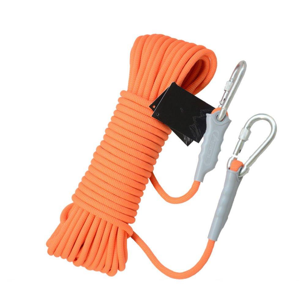 Orange ANHPI Rock Escalade Corde Corde De Sauvetage en Plein Air Résistant à Usure équipement De Survie Fournitures,Orange-10m9.5mm 40m9.5mm