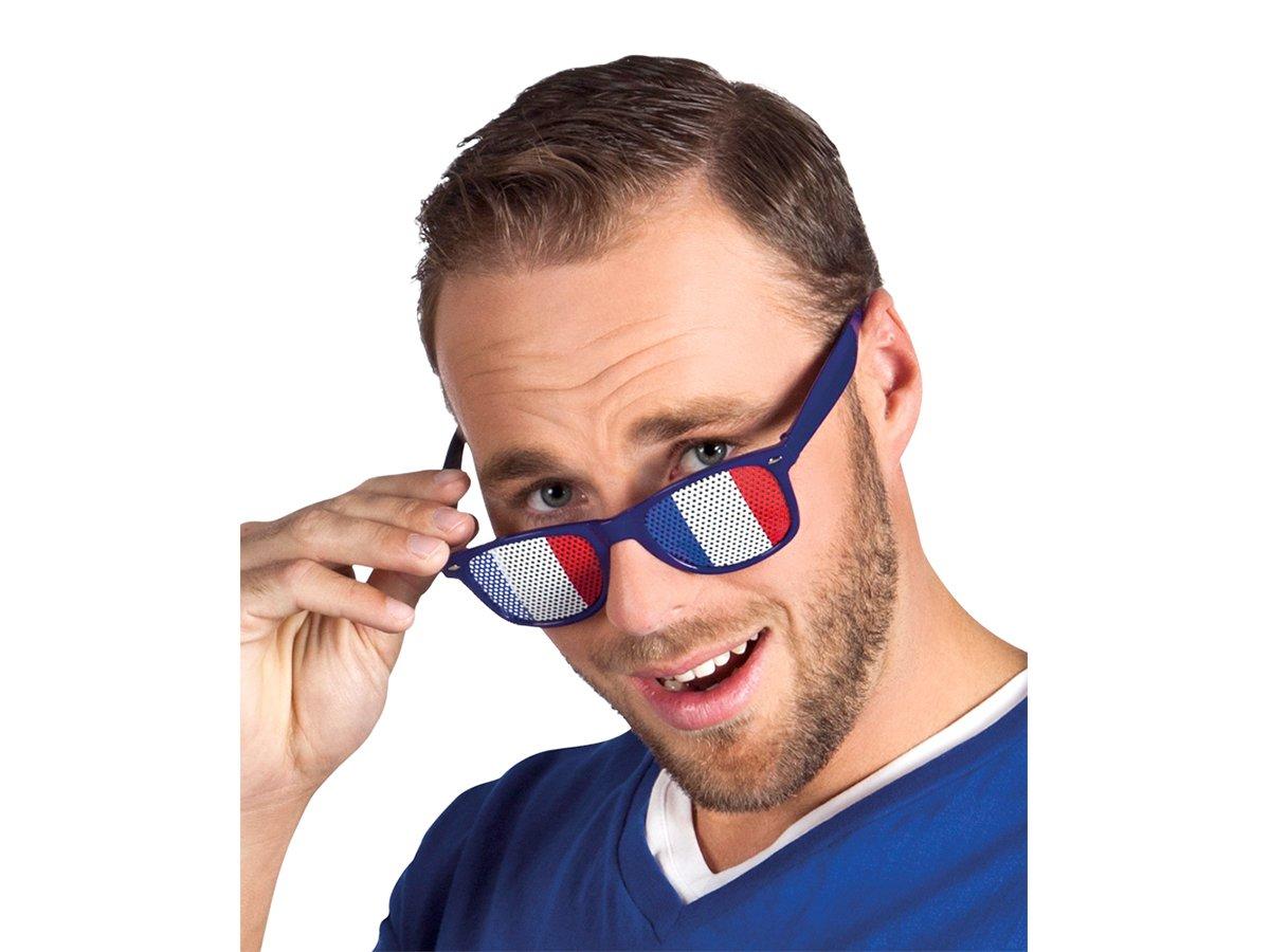 Lochbrille Länderbrille Gitterbrille Rasterbrille Frankreich Fußball WM Fanartikel Alsino