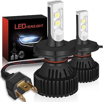 High Power H4 9003 LED Headlight Kit Hi//Low Beam Bulbs 12000LM Super Bright Lamp