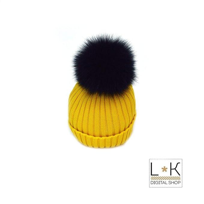scelta migliore grandi affari sulla moda nuovi arrivi CREAZIONI LUANA Cappello in Lana a Coste con PON-PON in ...