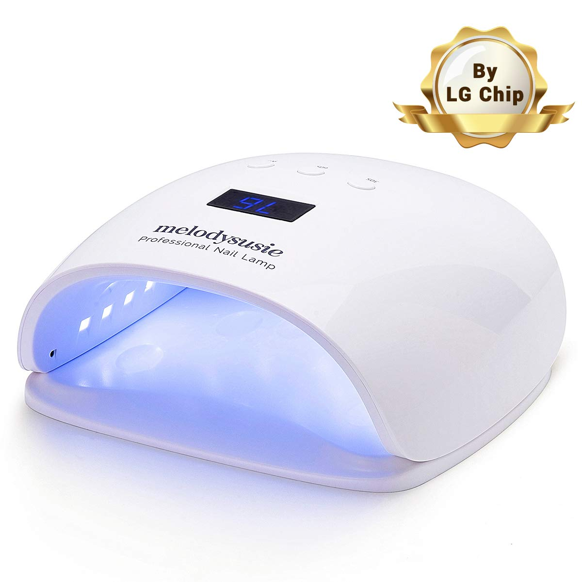 MelodySusie 54W UV LED Nail Lamp, Professional LG Chip Gel Nails UV Light Dryer with 30 Dual LED UV Beads, Power Saving Mode, 3 Timer Setting, Sensor, Detachable Tray for Acrylic, Gel Polishes