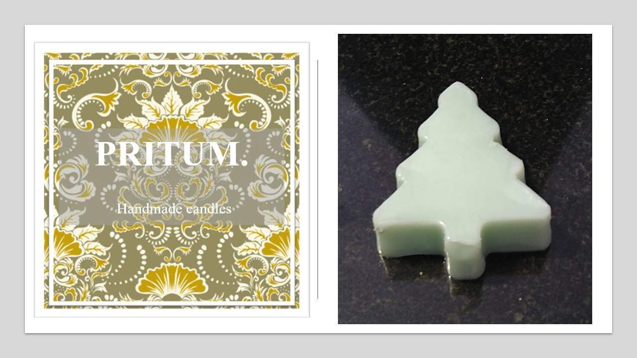 PRITUM Christmas Tree Perfect for stocking fillers and room lifting UK handmade x3 15g Pine scented wax melts