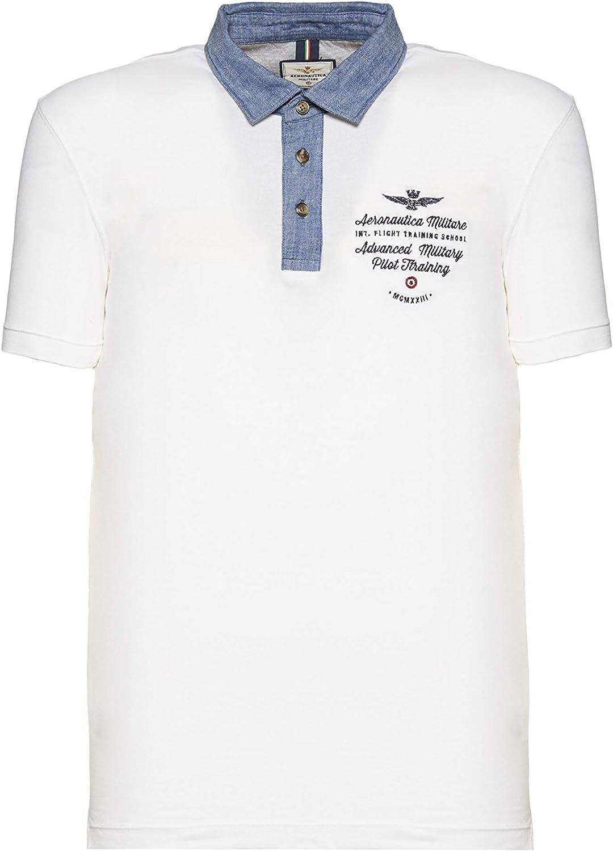 Aeronautica Militare Polo PO1441J, Blanco, Jersey, Hombre, Camisa ...