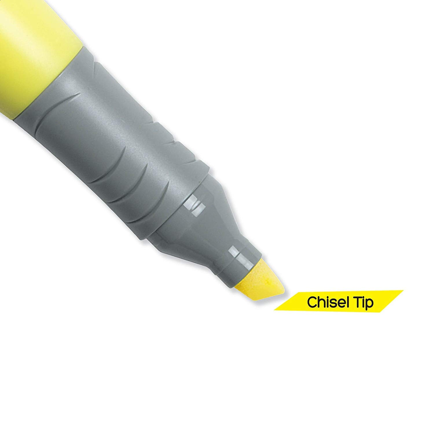 BIC Brite Liner Grip Highlighter, Tank, Chisel Tip, Yellow, 12-Count - 2 Pack by BIC (Image #4)