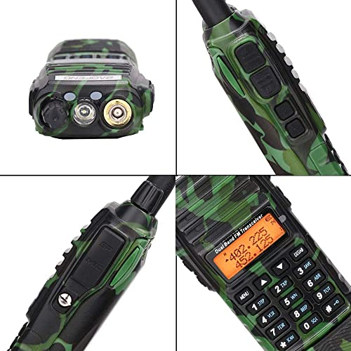 Baofeng UV-82 Plus Tri-Power 8W 4W 1W 3800mAh DC Connector Battery 2-PTT VHF UHF Dual Band Army Tactical Amateur Ham Two Way Radio