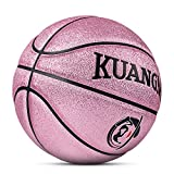 Kuangmi Multi-color Basketball for Junior Kids Child Boys Girls Size 5 27.5' (Rose Pink)