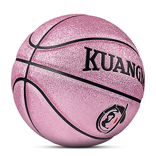 Kuangmi Multi-color Basketball for Junior Kids Child Boys Girls Size 5 27.5 (Rose Pink)