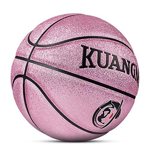 Kuangmi Multi-color Basketball for Junior Kids Child Boys Girls Size 5 27.5 (Rose Pink)