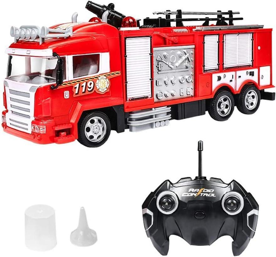 S2F5 Water Jet coche de bomberos de juguete de 4 canales 2.4G controlada por radio del coche grande eléctrico de control remoto de coches de aerosol agua coche de la simulación de control remoto del m