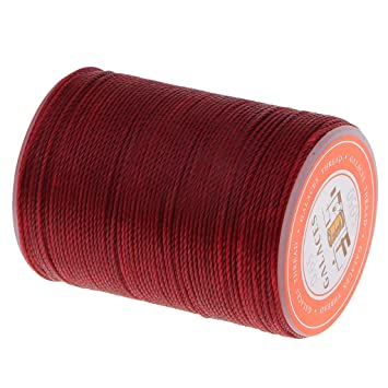 0.65mm Leather Sewing Stitching Waxed Thread String Cord Handicrafts Red