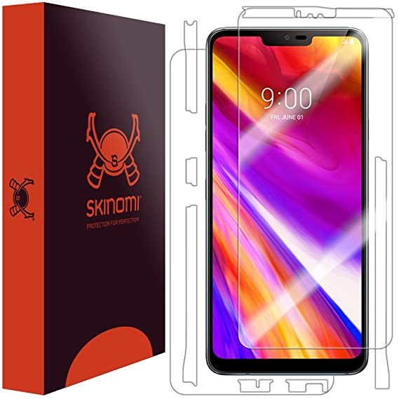 new products 95b85 0a62a LG G7 ThinQ Screen Protector + Full Body (LG G7+ ThinQ), Skinomi TechSkin  Full Coverage Skin + Screen Protector for LG G7 ThinQ Front & Back Clear HD  ...